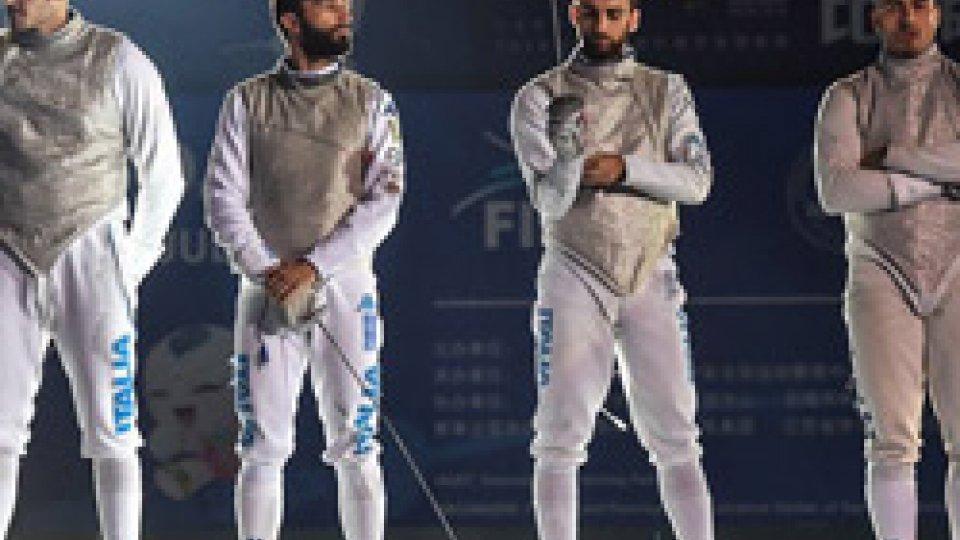squadra fiorettoMondiali di scherma: l'Italia è oro nel fioretto maschile