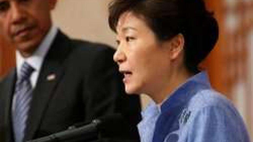 La presidente sudcoreana con Obama
