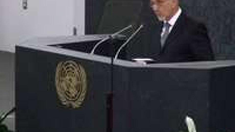 Il segretario Valentini intervenuto all'Onu su obiettivi del millennio e ruolo di San MarinoIl segretario Valentini intervenuto all'Onu su obiettivi del millennio e ruolo di San Marino