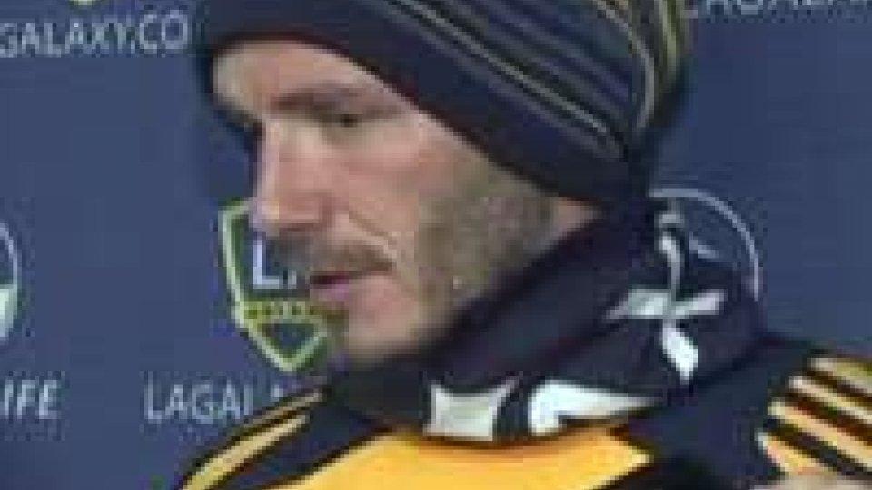 David Beckham: a dicembre ultima partita con i Galaxy