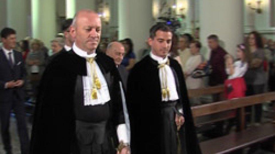 I Capitani Reggenti Stefano Palmieri e Matteo Ciacci3 settembre: San Marino festeggia il Santo Patrono a 1718 anni dalla fondazione