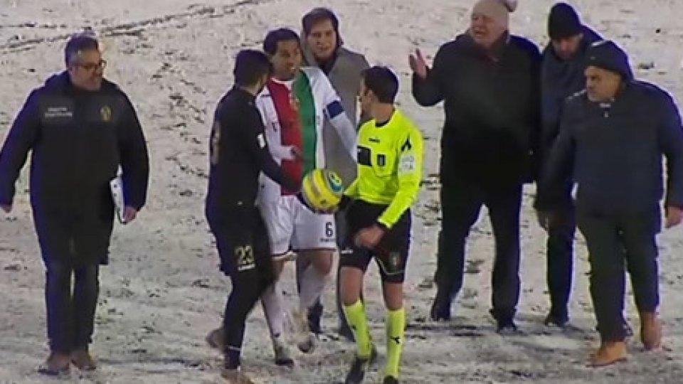 Viterbese - Ternana sospesa per neveCoppa Italia Serie C, Viterbese - Ternana sospesa per neve
