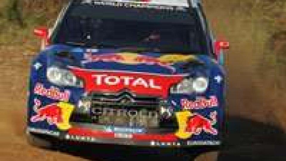 Rally di Spagna, Loeb è passato al comando