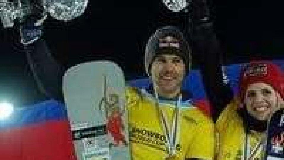 Snowboard: a Roland Fischnaller la cdm di slalom paralleloSnowboard: a Roland Fischnaller la cdm di slalom parallelo