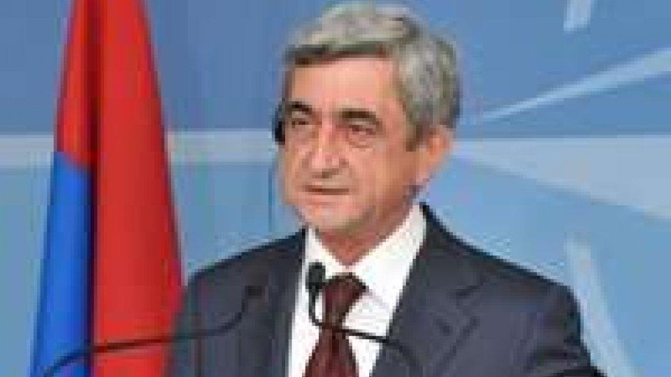 Armenia: nuovo mandato per Sarkisyan