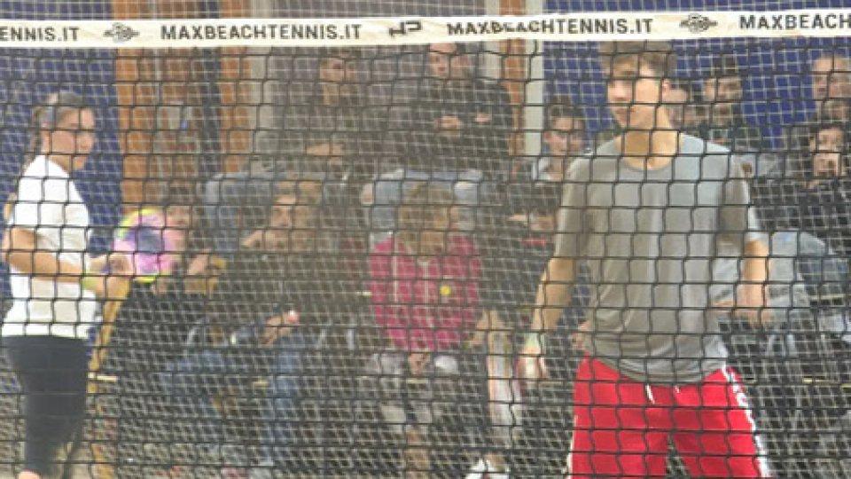 Alvise Galli e Marika ColonnaBeach Tennis Master Cup: bene Colonna e il doppio misto, eliminati Bombini-Galli e Forcellini