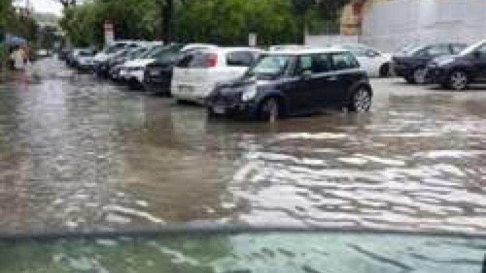 Riccione: allagati i sottopassi causa piogge intense, la Municipale invita alla prudenza