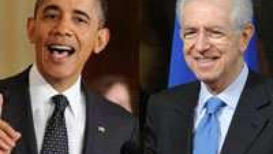 Obama - Monti a proposito della Siria