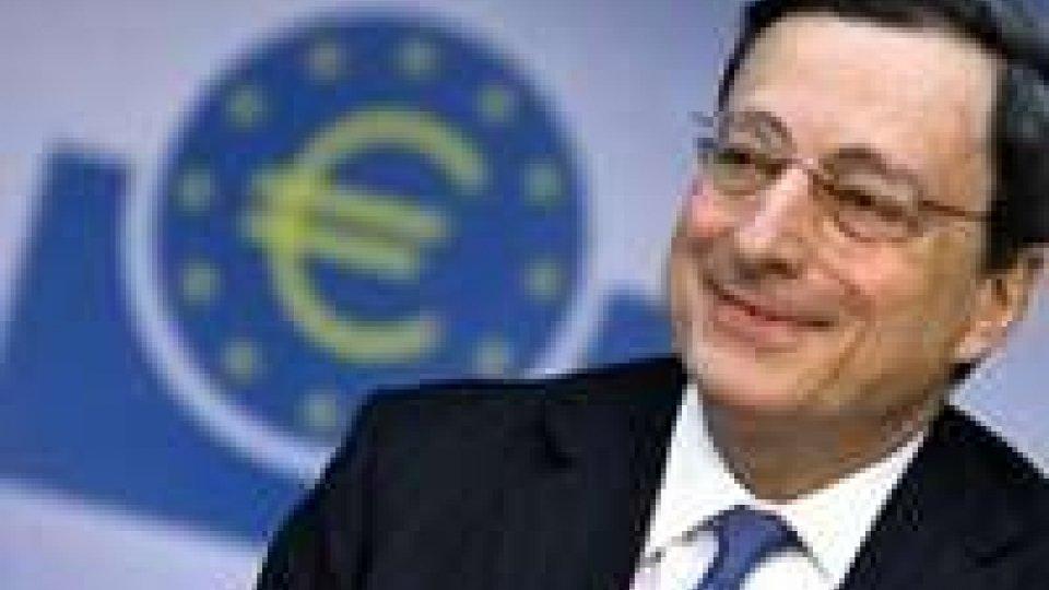 """Eurozona, Draghi: """"Ci sono dei rischi, ma c'è molta fiducia"""""""
