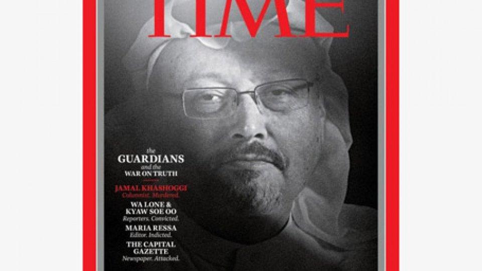 """Jamal Khasoggi nella copertinaTime: Khasoggi e i giornalisti in pericolo nominati """"Persone dell'anno 2018"""""""