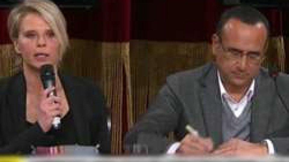 Maria De Filippi Carlo ContiSANREMO a due: CONTI-DE FILIPPI sbancheranno!?