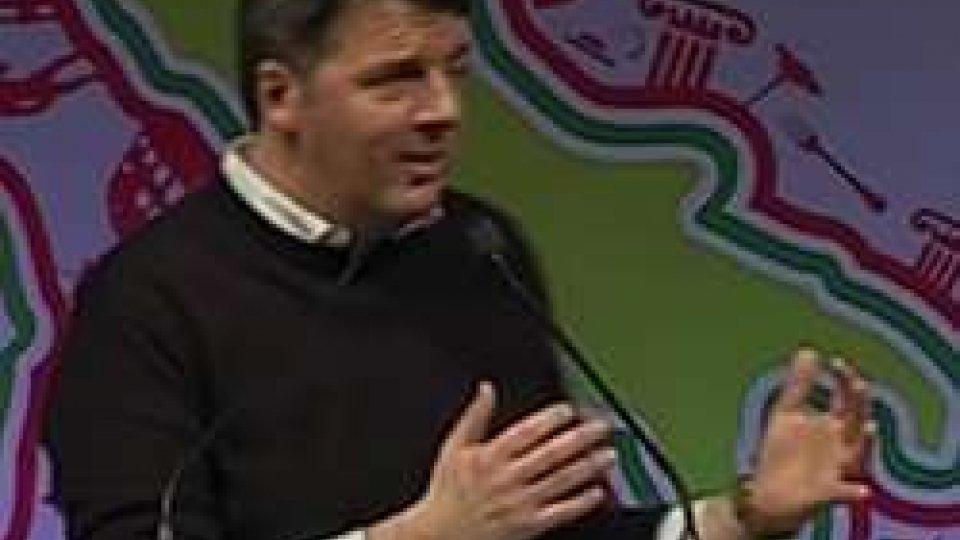 """Matteo RenziRimini, Matteo Renzi dal palco dell'Assemblea PD: """"Entro un anno si andrà alle urne"""""""