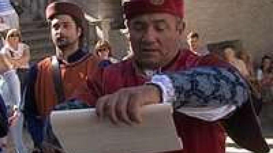 3 settembre: la lettura del Bando dei Balestrieri3 settembre: la lettura del Bando dei Balestrieri