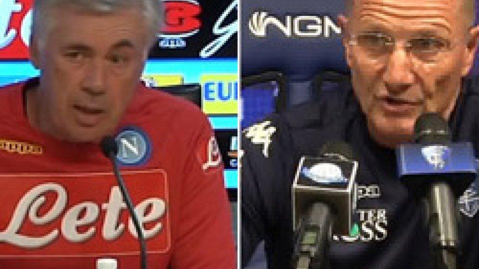 Ancelotti e AndreazzoliDomani Napoli-Empoli: le conferenze di Ancelotti e Andreazzoli
