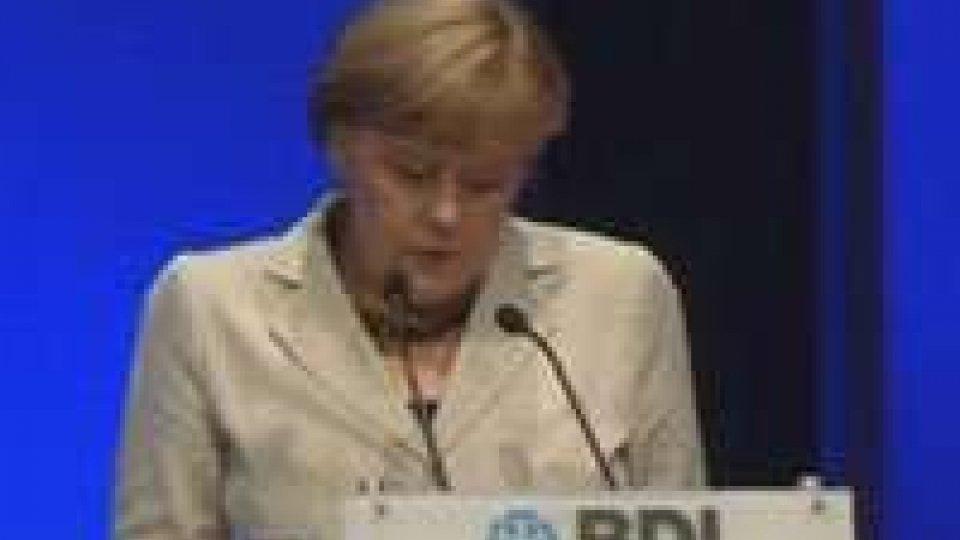 La Merkel incontra Draghi: avanti con le riforme