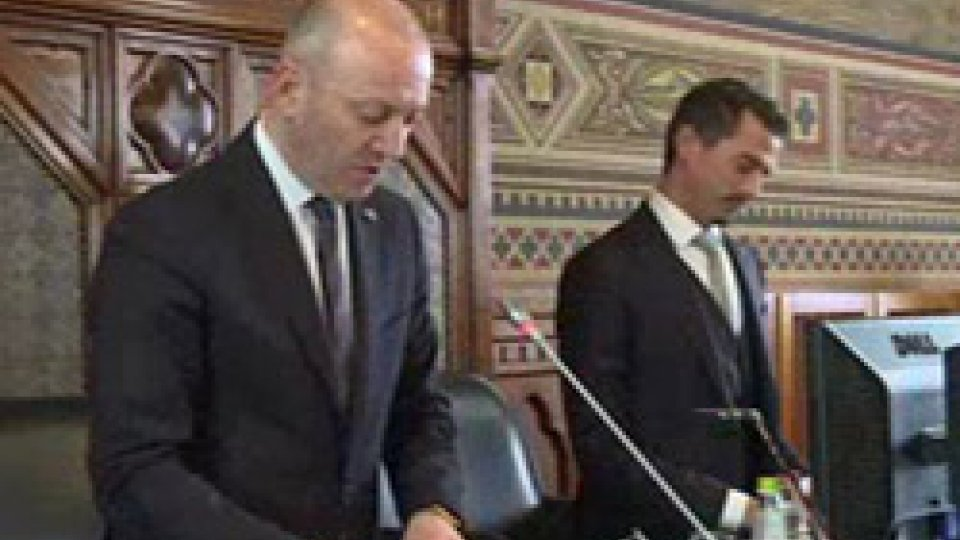 Stefano Palmieri e Matteo CiacciGiornata Internazionale della Democrazia: il messaggio della Reggenza