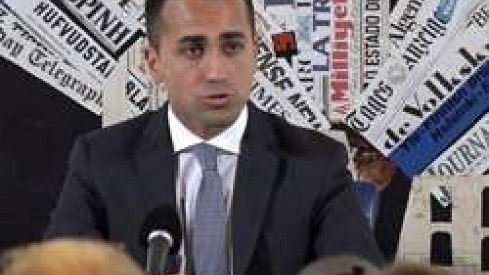 """Luigi Di MaioDi Maio alla stampa estera: """"Aspettiamo che i partiti vengano da noi con le loro proposte"""""""