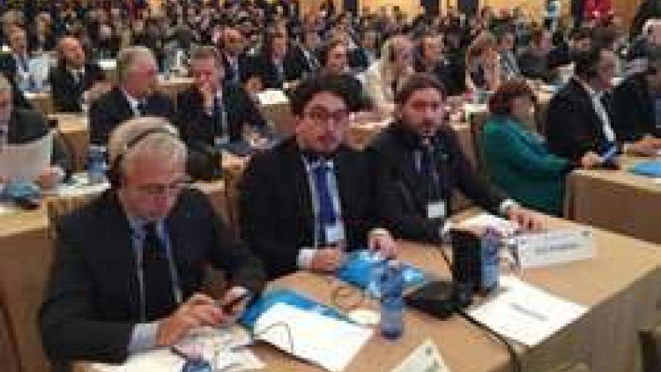 La delegazione sammarineseFrancesco Morganti e Federico Pedini Amati all'Assemblea Parlamentare del Mediterraneo