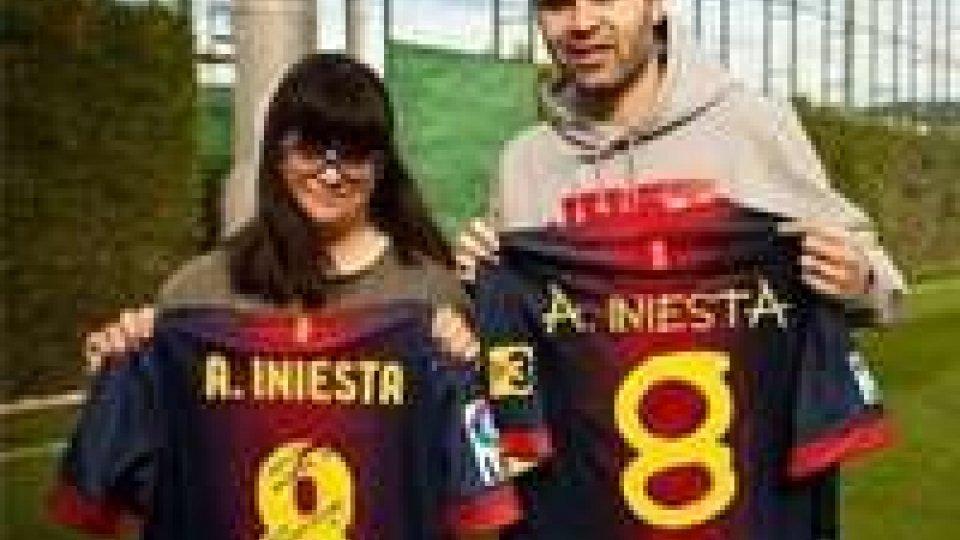 I numeri di maglia del Barca realizzati da Anna, affetta dalla sindrome di Down