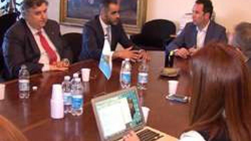L'incontro tra Lonfernini e SantanderSi rafforza la partnership tra San Marino e l'European Travel Commission