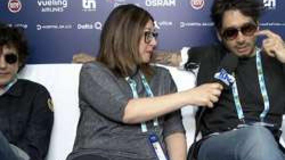 Ermal Meta Francesca Biliotti e Fabrizio MoroE' la semifinale di San Marino: anche l'Italia, con Ermal Meta e Fabrizio Moro, ci augura buona fortuna