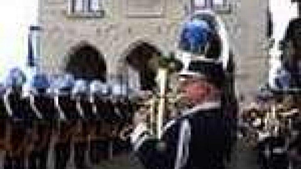 I corpi militari schierati sul Pianello