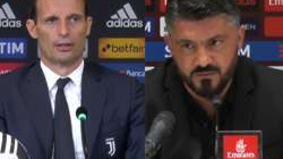 Allegri e GattusoAllegri e Gattuso proiettati verso la finale di Coppa Italia