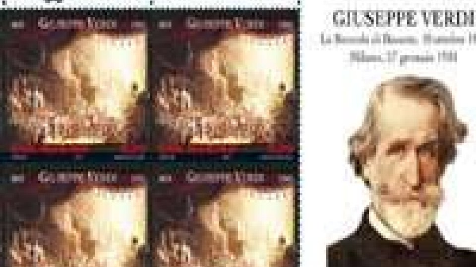 Bicentenario Verdi: arrivano francobolli Italia e San Marino