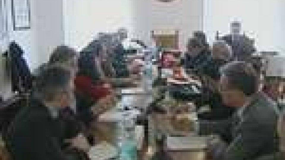 La commissione durante i lavori
