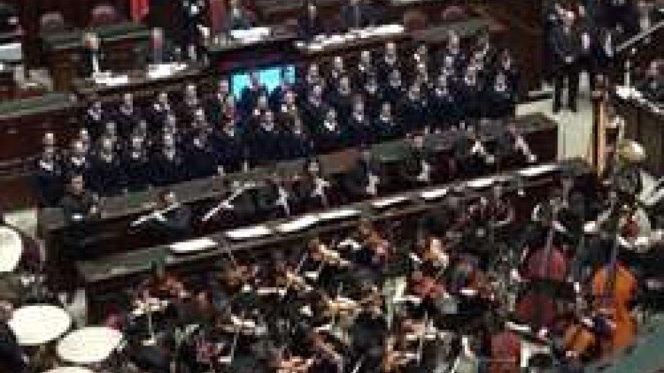"""L'aula di MontecitorioLaura Boldrini sui 60 anni dell'Unione: """"Europe first, prima l'Europa"""""""