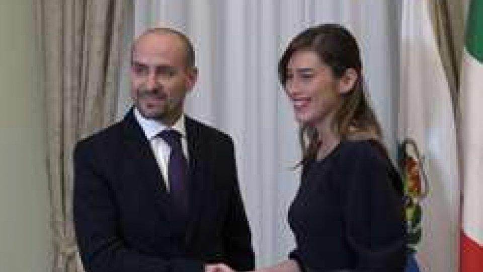 Incontro a Roma Segretario Santi - Maria Elena Boschi