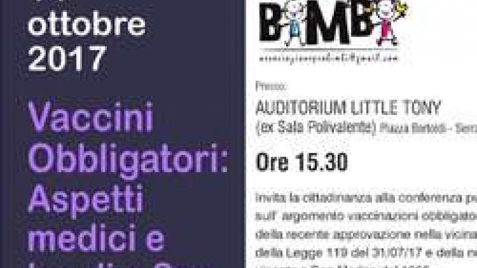 """Sabato prossimo riprendono le serate dell'Associazione Pro Bimbi con una conferenza dal titolo """"Vaccini obbligatori: aspetti medici e legali a San Marino""""."""