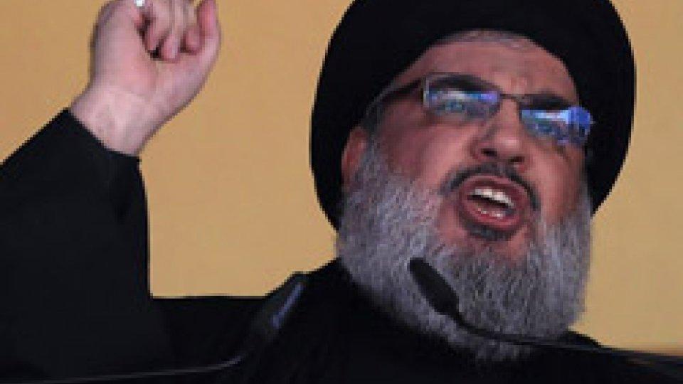 Hassan Nasrallah @breakingItayNewsLeader Hezbollah minaccia di attaccare e distruggere Israele, sotto gli occhi dell'Onu