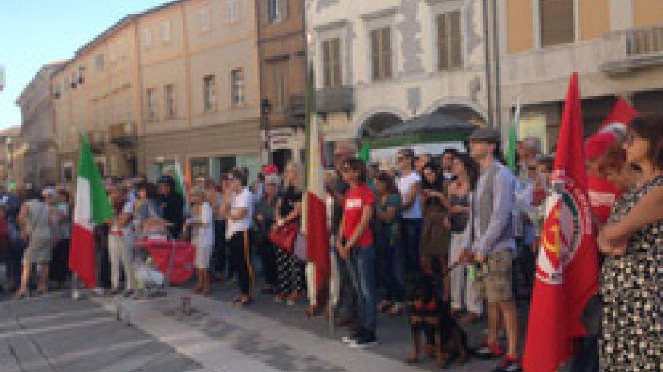 Il corteo a Rimini