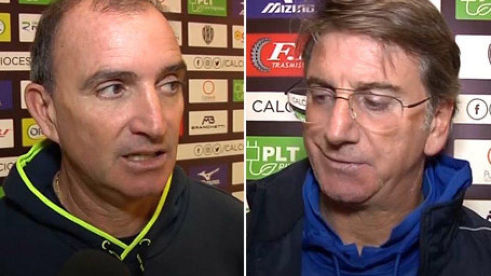 Beppe Angelini e Fabio MontaniCesena-Vastese, il commento di Angelini e Montani