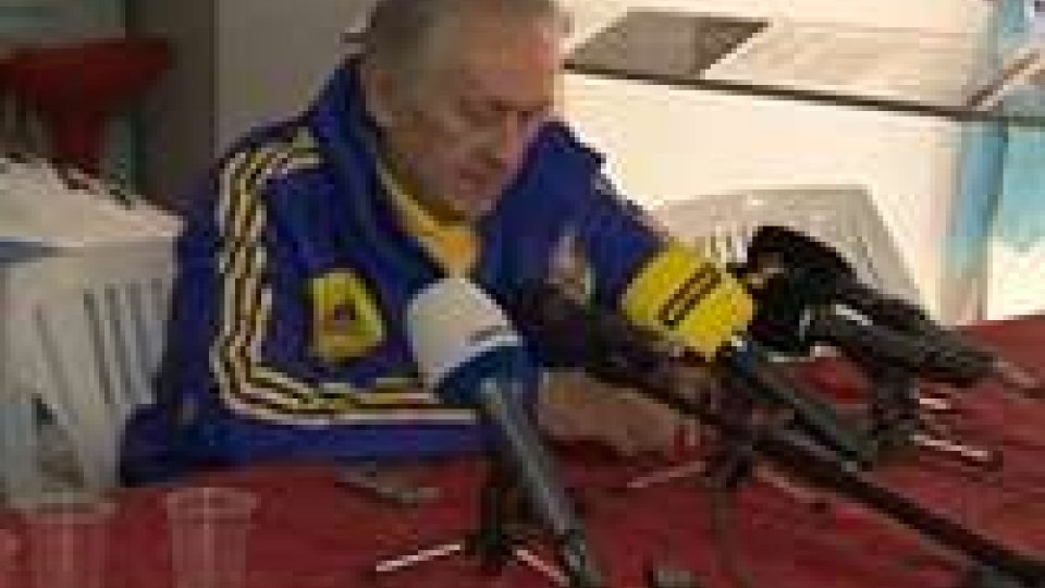 La Nazionale ucraina si allena sul TitanoLa Nazionale ucraina si allena sul Titano