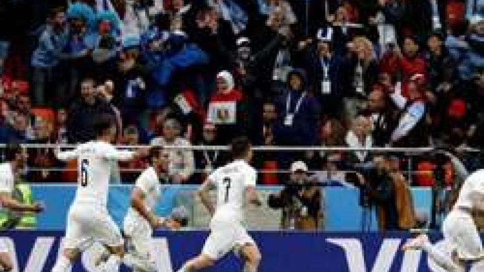 Mondiali: l'Uruguay batte l'Egitto al 90'