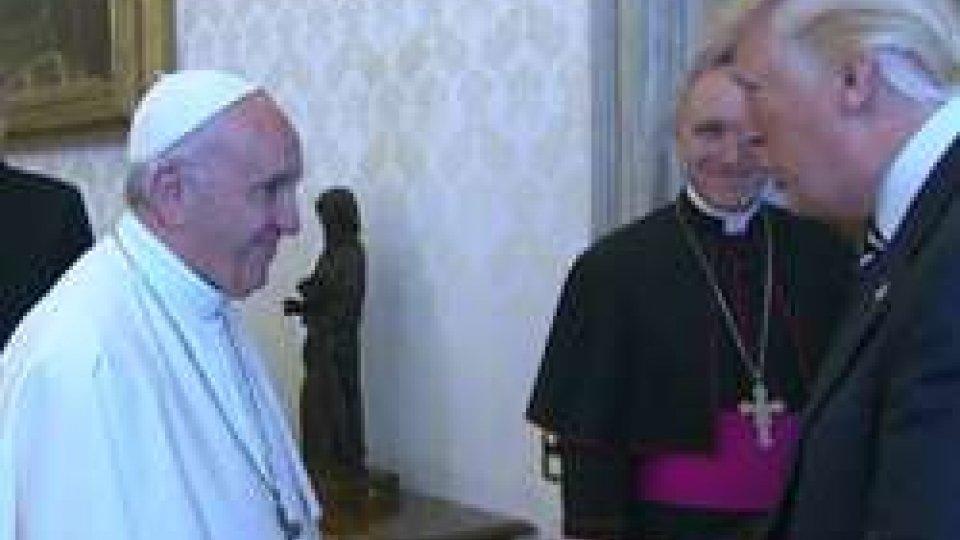 """Il Papa e TrumpTrump a Roma: """"Non dimenticherò mai le parole di Papa Francesco"""""""