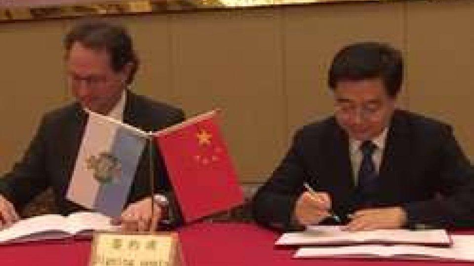 La firmaSviluppo: nasce il Parco tecnologico internazionale Huzhou San Marino-Italia