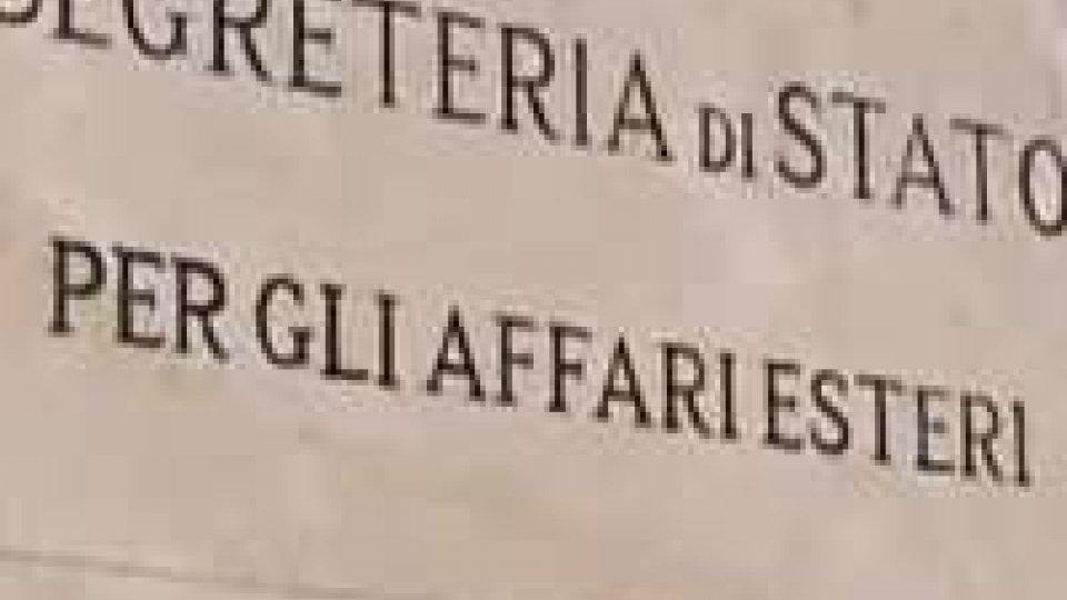 Segreteria degli Esteri, precisazioni sulla questione Abcasia