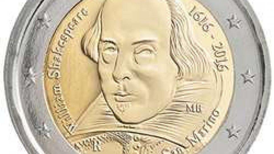 Codice 281: Moneta commemorativa da 2 euro 2016 fdc Shakespeare