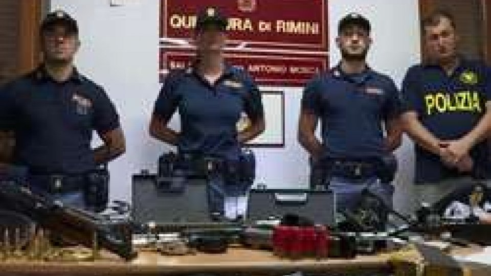 Questura Rimini: scoperta armeria illegale a CorianoQuestura Rimini: scoperta armeria illegale a Coriano