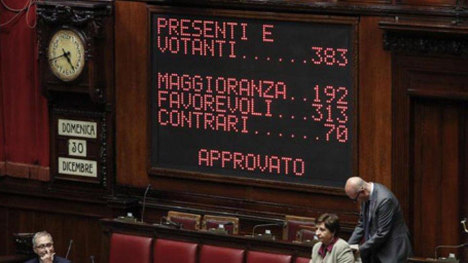 Voto definitivo della Camera