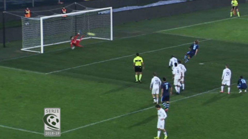 Albinoleffe - Virtus Verona 1-0L'AlbinoLeffe trascina sul fondo la Virtus Verona al 95°: 1-0