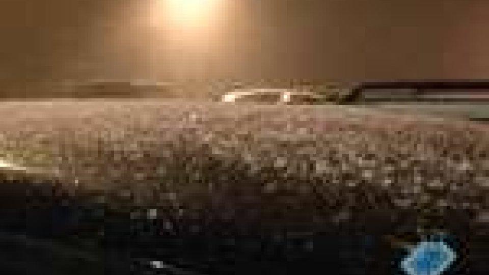 Prima neve della stagione a San Marino