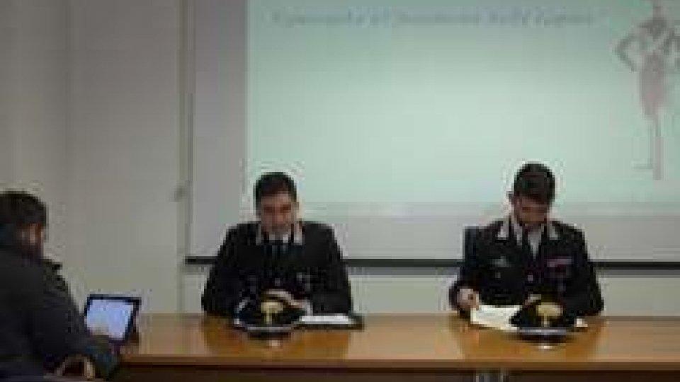 Conferenza CarabinieriRiccione: i Carabinieri hanno arrestatoi rapinatori deisupermercati
