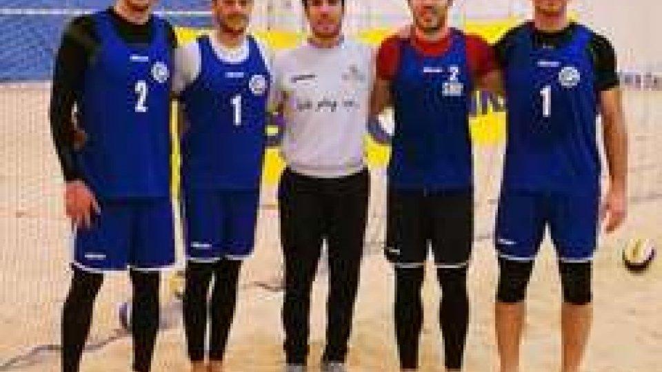 Da sx: Zonzini, De Luigi, coach Galli, Paganelli, Tabarini