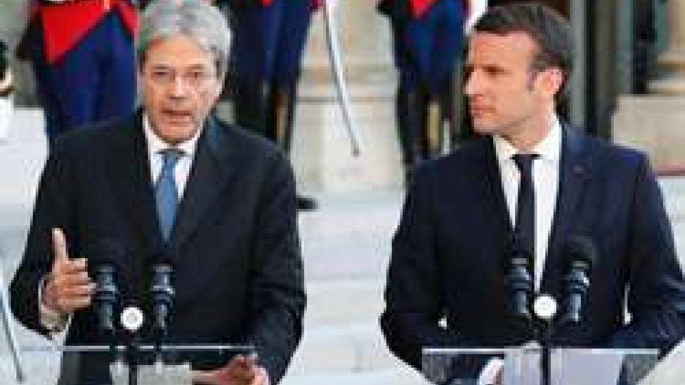 Paolo Gentiloni e Emmanuel Macron