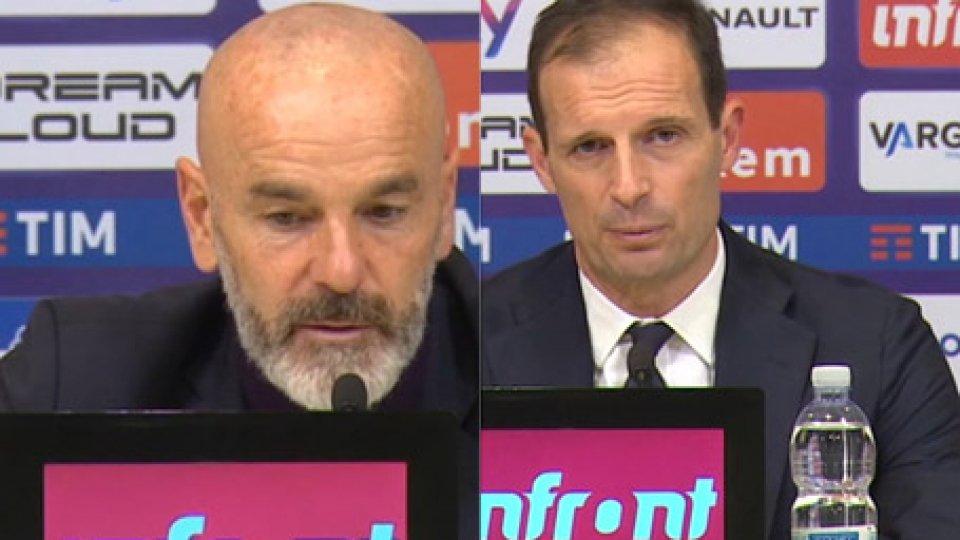 Interviste a Stefano Pioli e Massimiliano AllegriJuventus-Fiorentina 3-0: le considerazioni di Pioli e Allegri