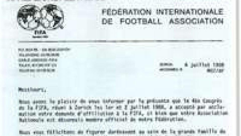 2 luglio 1988: San Marino entrava nella FIFA